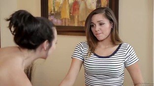 Holly West masturbates in the shower and teen Zoey Foxx wants...
