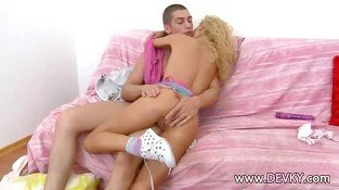 Blonde babe fucked really hard