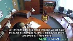 FakeHospital Naughty nurse tests - Lesbian sex video