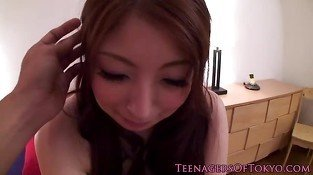 Busty asian teens pov bukkake action