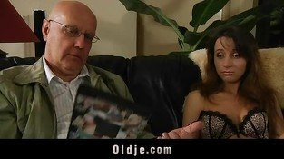 Oldman satisfy his young horny wife